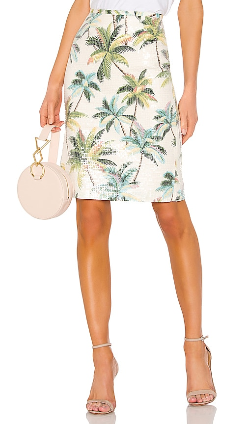 Hawaiian Shine Pencil Skirt