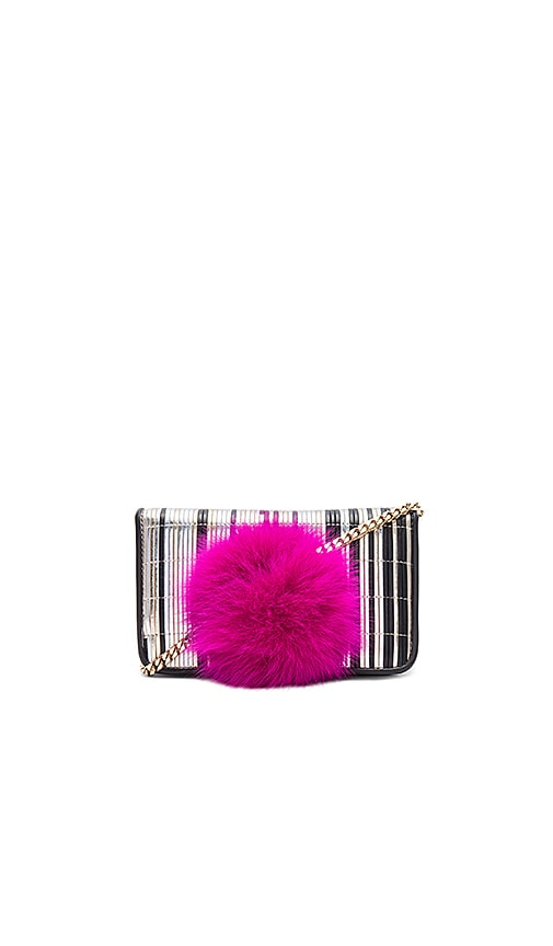 les petits joueurs Micro Janis Bunny Clutch in Black
