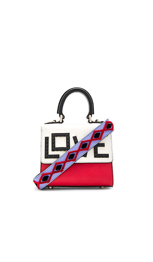 les petits joueurs Micro Alex Black Widow Bag in Red