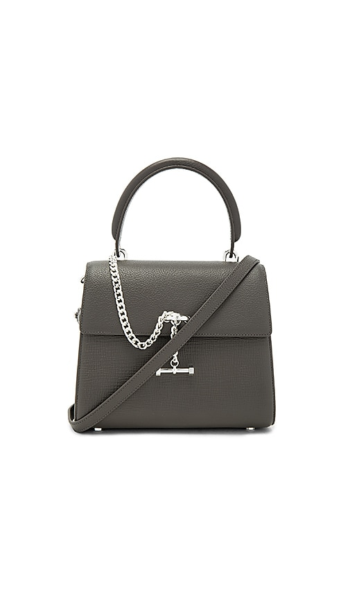 Luana Italy Paley Mini Satchel in Charcoal