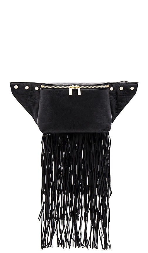 Luana Italy Raquel Belt Bag in Black