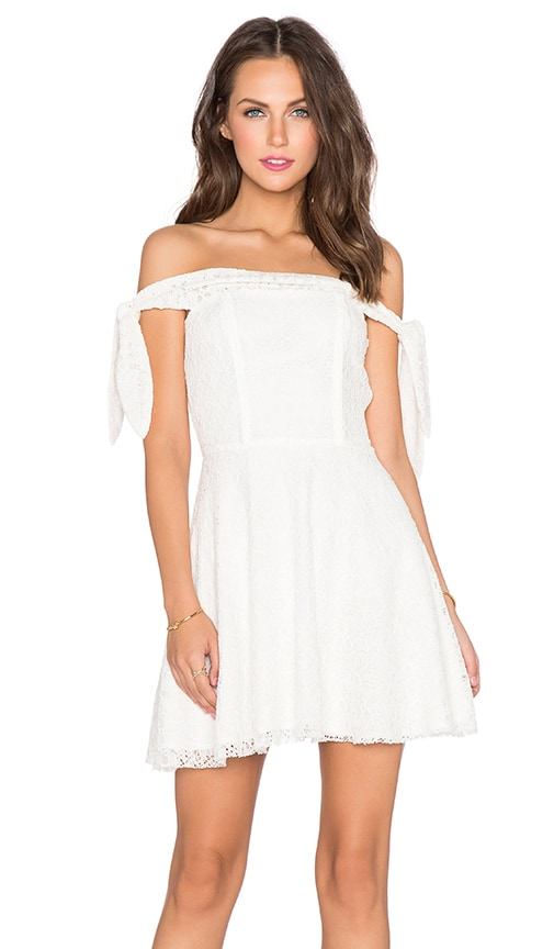 Lucca Couture Off The Shoulder Dress in White