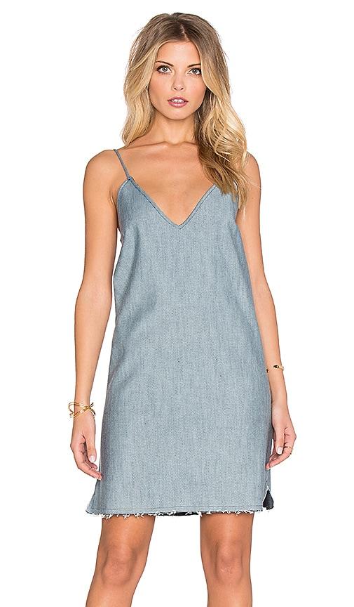 Lucca Couture Denim Slip Dress in Light Denim