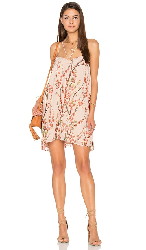 Lucca Couture Double Strap Shift Dress in Beige