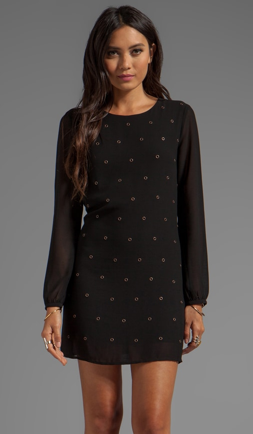 Grommet Long Sleeve Dress