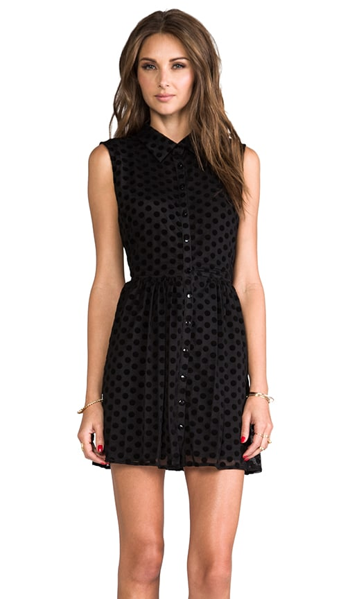 Cut Out Sleeveless Shirt Dress