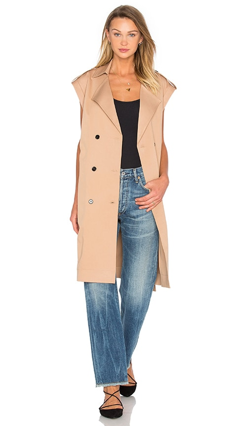 Lucca Couture Trench Vest in Tan