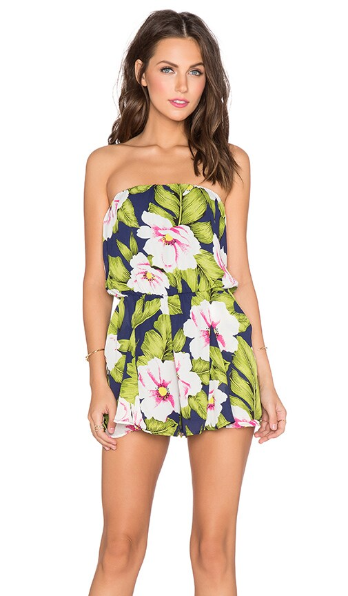 6aa5772451a3 Lucca Couture Tropical Romper in Navy