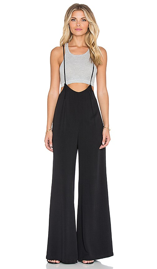 Lucca Couture Wide-Leg Suspender Jumpsuit in Black | REVOLVE