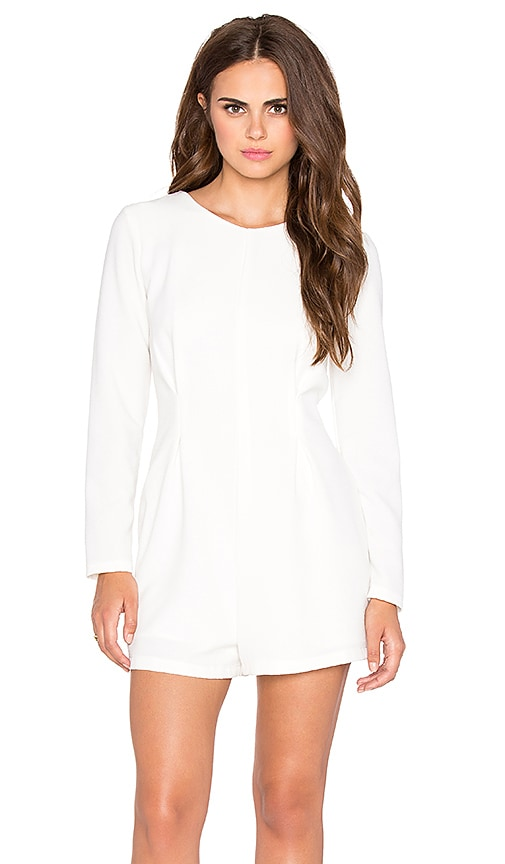 Lucca Couture Long Sleeve Romper in White