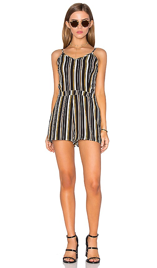 Lucca Couture Fitted Romper in Black
