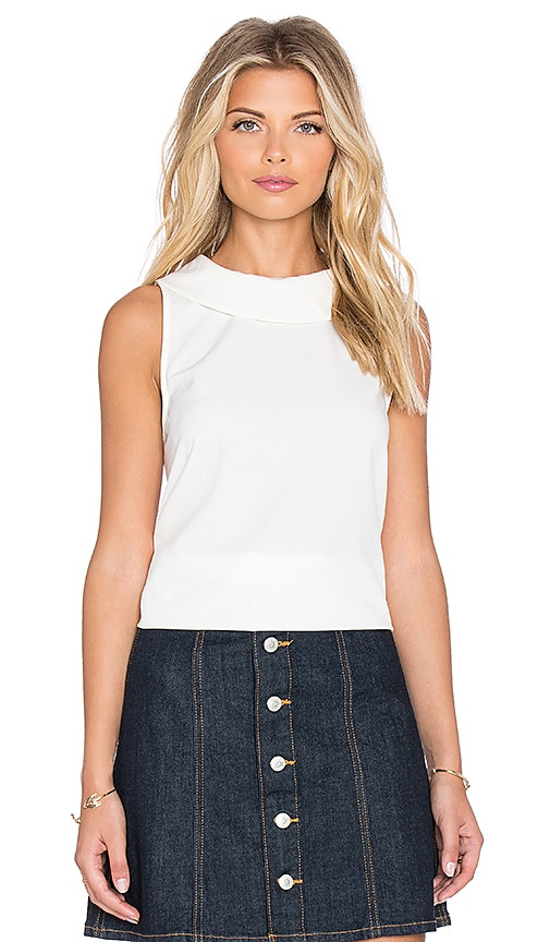 Lucca Couture Collared Tee in White