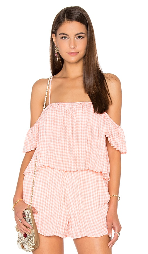 Lucca Couture Pleated Top in Coral