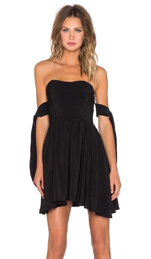 Lucy Paris Deetz Tie Dress in Black