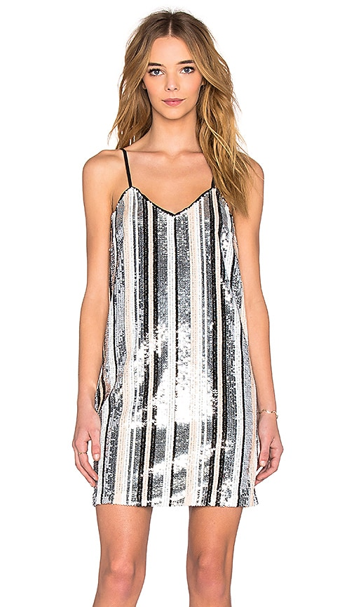 Lucy Paris Sequin Cami Dress in Multi