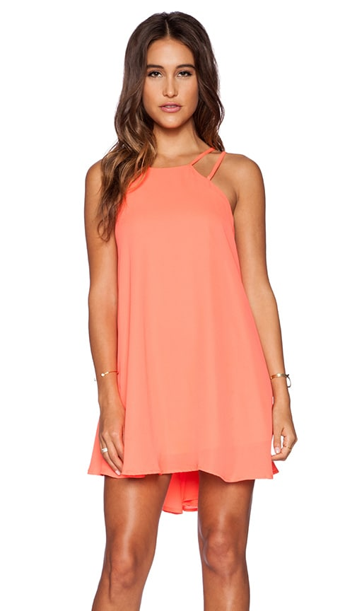 Lucy Paris Criss Cross Applesauce Dress in Coral