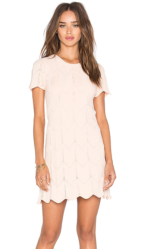 Lucy Paris Campbell Dress in Blush