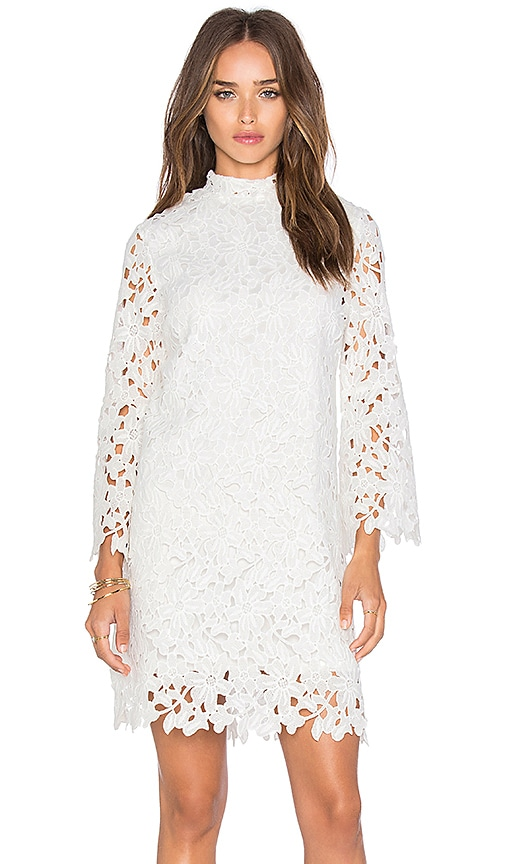 Lucy Paris Lace Dress in White