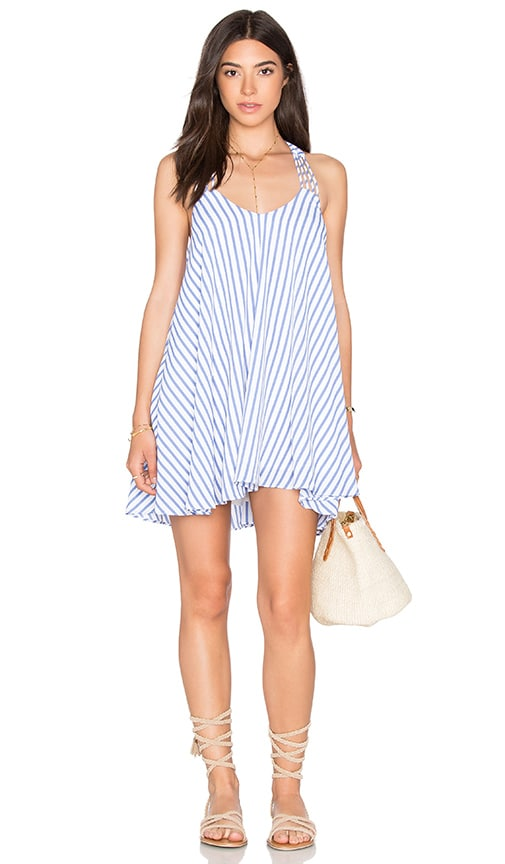 Lucy Paris x REVOLVE Burnout Slip Dress in Pin Stripe
