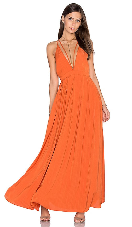 Lucy Paris Celine Maxi Dress in Orange