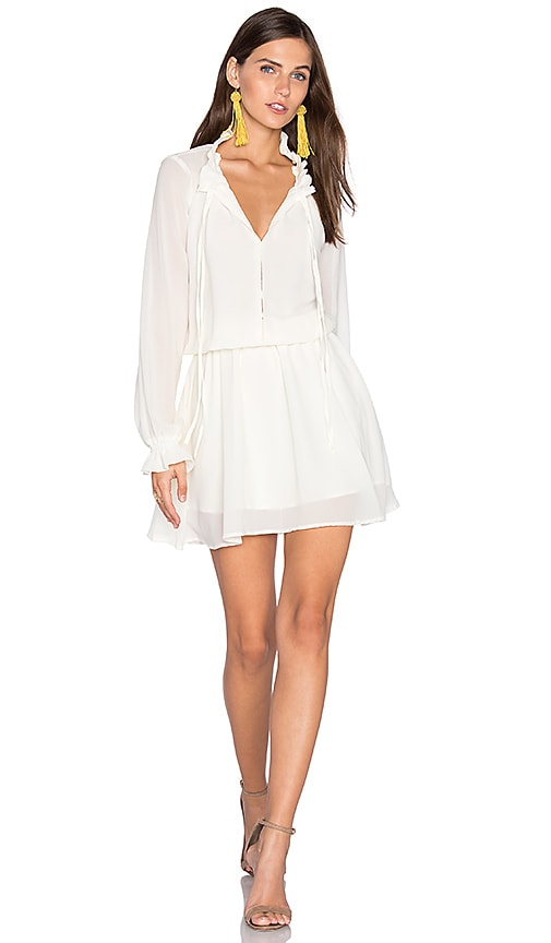 Lucy Paris Christa Tie Up Dress in Ivory