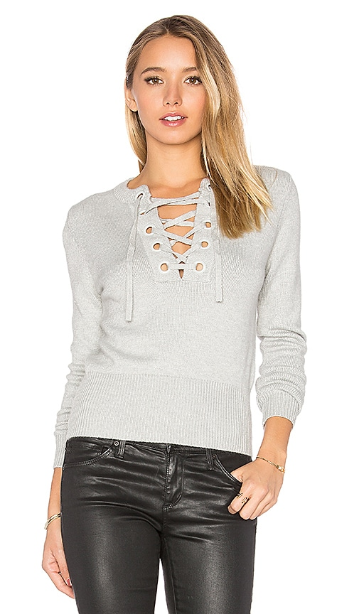 Lucy Paris Laura Tie Up Top in Gray