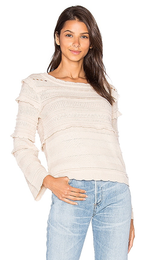 Lucy Paris Mandy Bell Sleeve Top in Beige