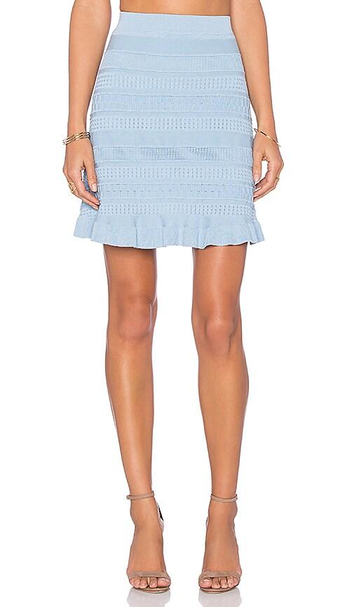 Lucy Paris Trip Knit Skirt in Light Blue