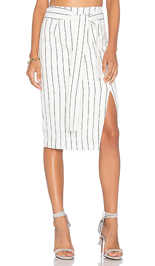 Lucy Paris Pencil Skirt in White