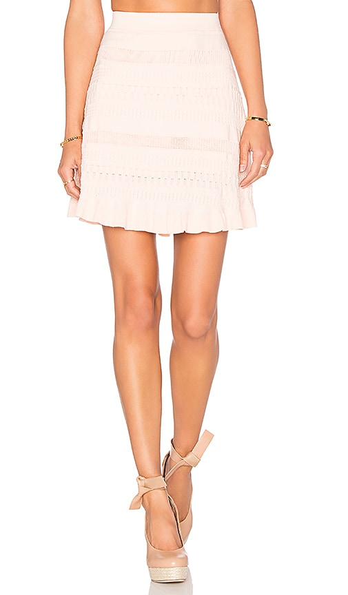 Lucy Paris Trip Knit Skirt in Blush