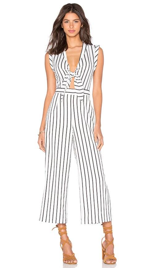 e7e1819cef33 Lucy Paris Front Tie Jumpsuit in Stripe