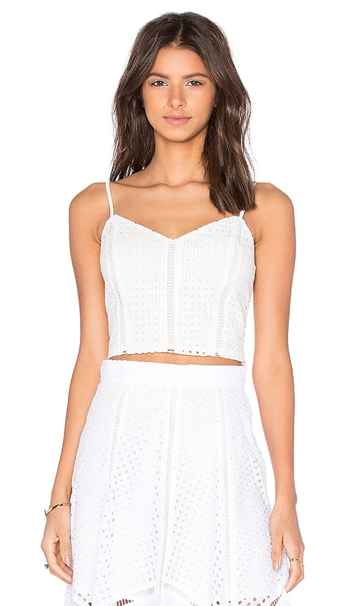 Lucy Paris x REVOLVE Cropped Cami Top in White
