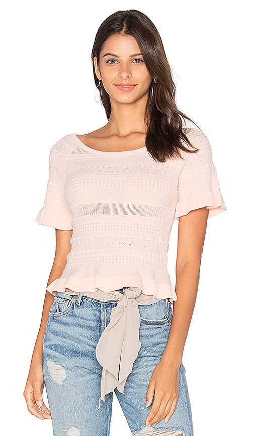 Lucy Paris Trip Knit Top in Blush