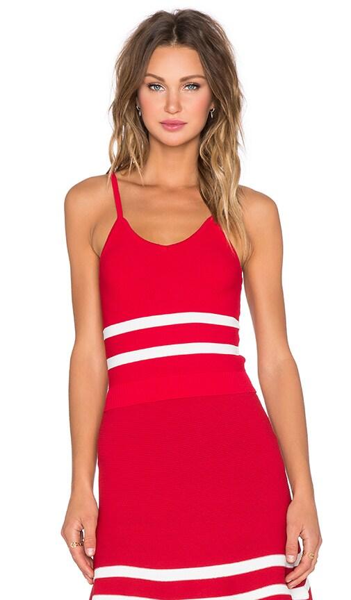 Lucy Paris x REVOLVE JV Crop Top in Red