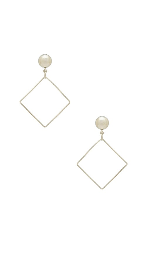 LARUICCI Diamond Earring in Metallic Silver
