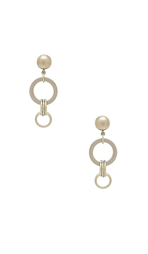 LARUICCI Link Earring in Metallic Silver