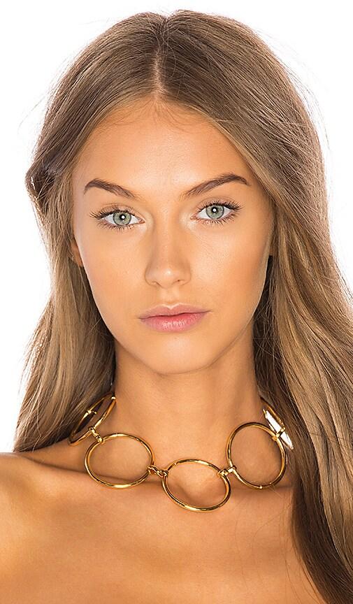 LARUICCI Circle Link Choker in Metallic Gold
