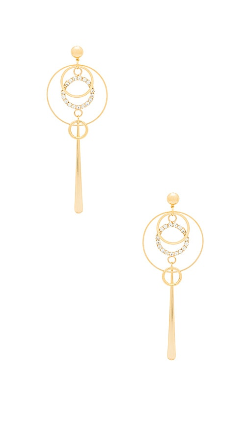 LARUICCI Circle Drop Earring in Metallic Gold