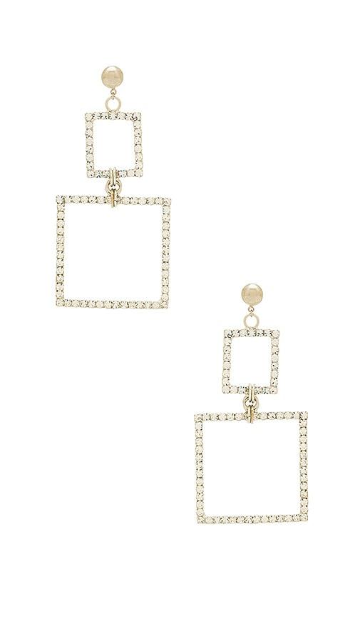 LARUICCI Double Square Earring in Metallic Silver