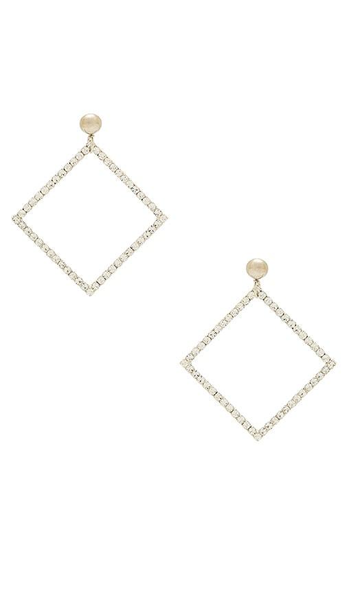 LARUICCI Rhombus Earring in Metallic Silver