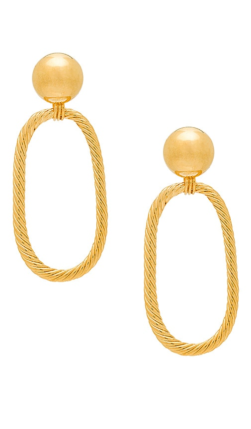 LARUICCI Braided Rope Hoops in Metallic Gold
