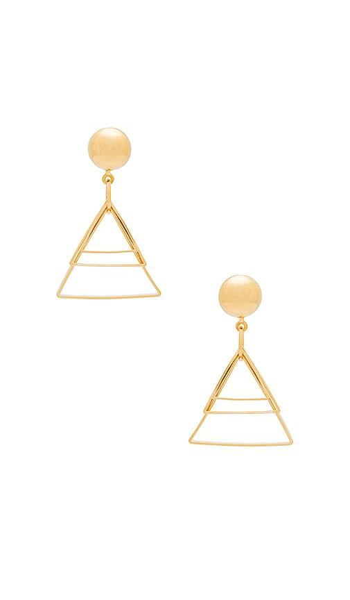 LARUICCI Triangle Drop Earrings in Metallic Gold