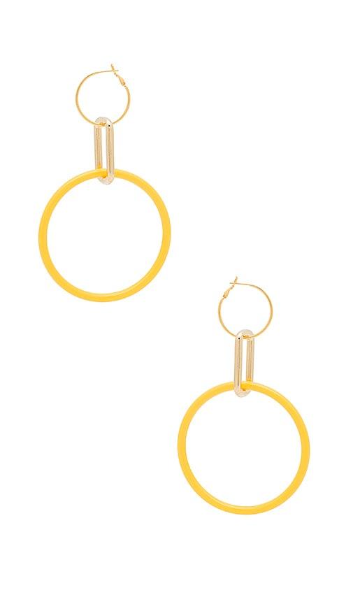 Cascading Link Earrings in Yellow Laruicci DAff2poq7t