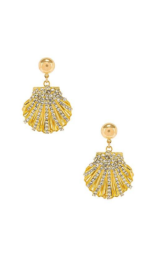 Crystal Seashell Earrings