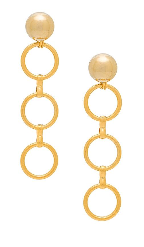 LARUICCI Linked Circle Earrings in Metallic Gold