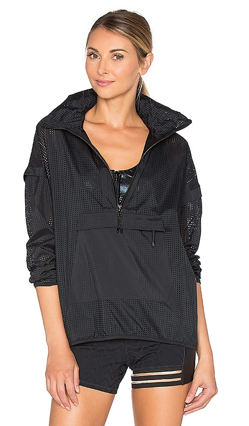 lukka lux Canopy Zip Pullover in Black