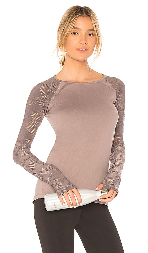 lukka lux Interval Long Sleeve Top in Lavender