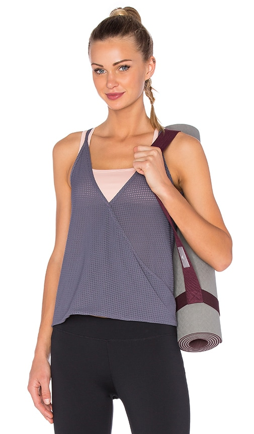 lukka lux Pendant Bra Top in Gray