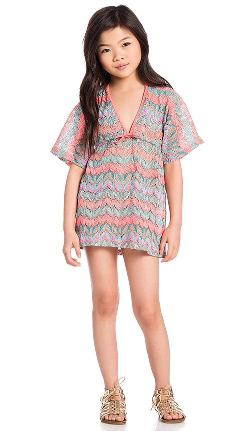 Luli Fama Lulita Fuego Divino Short Tunic in Multicolor