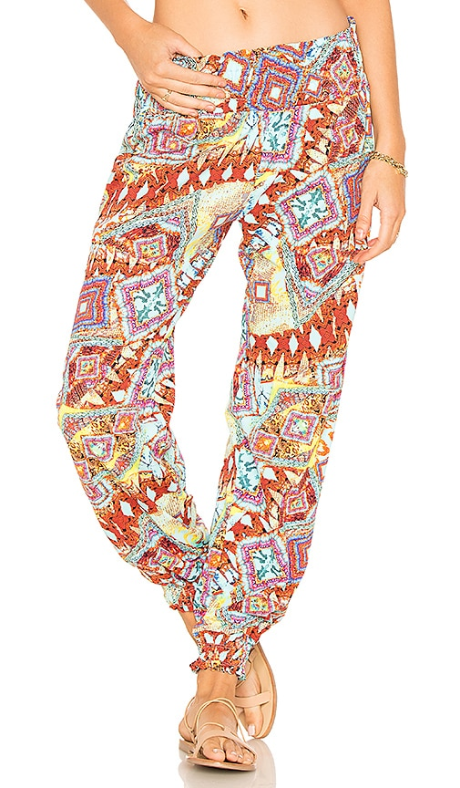 Luli Fama Gypsy Pant in Orange